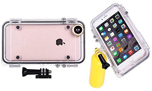 Fone-Stuff gopro apple iphone 6s plus & 6 und Fall montieren, extreme Action-Sport-wasserdicht ip68 Abdeckung für alle GoPro Zubehör mit 170-Grad-Weitwinkel-Kameraobjektiv