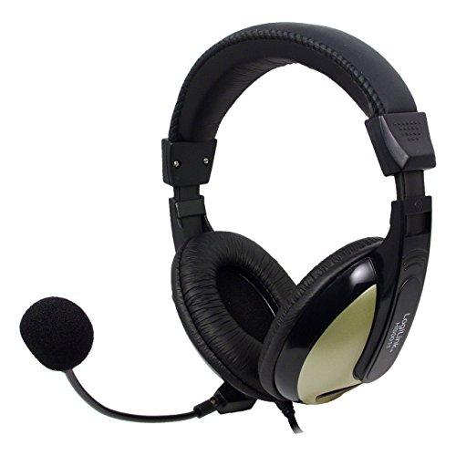Logilink stereo Comfort Headset - Kopfhörer (Ohrenschale) mit hohem Tragekomfort schwarz / grau HS0011 Comfort-stereo