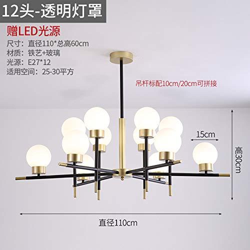 Camera da letto ristorante lampadario personalità lampade produttori dodici teste luce bianca e bianca