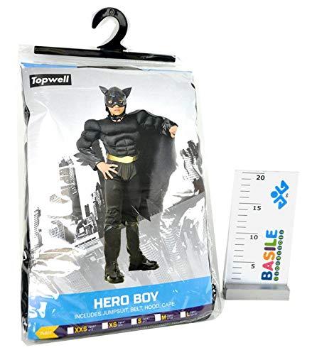 Glooke selected batman costume bambino 8+, nero, 8010362374505