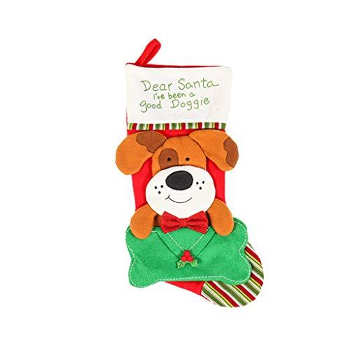 Keepart - Calcetín navideño para Gato/Perro (45,7 cm), diseño de Papá Noel