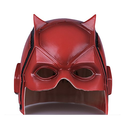 nihiug Daredevil Nighthawk Helm Maske Cosplay Halloween Cos Helm Prop DC,Red-OneSize