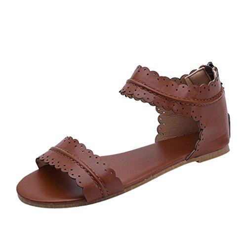 Sandalias para Mujer Verano 2018 PAOLIAN Romano Zapatos de Plano Playa Fiesta Sandalias y Chanclas Suela...