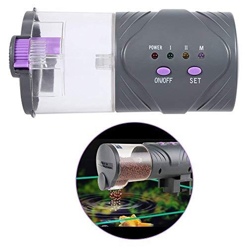 Distributeur De Nourriture Aquarium Réservoir Automatique Alimentateur Poisson DC Micro-moteur Installation Simple 15*7,5cm (sans piles)