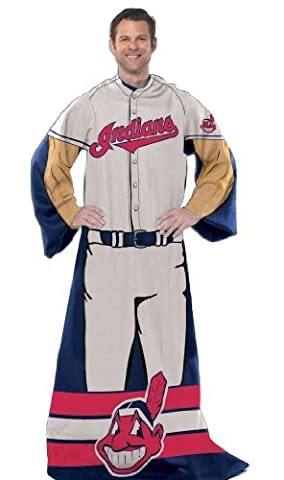 Cleveland Indians Comfy Snuggie Blanket Full Player New Design by MLB