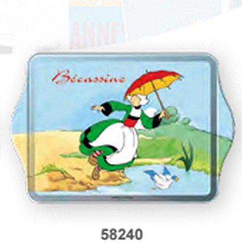 Kostüm Becassine - Mini Tablett, Motiv Bécassine Ente