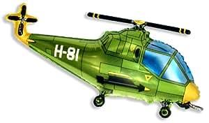 """Helicopter Balloon 26"""" Foil Balloon - Green"""