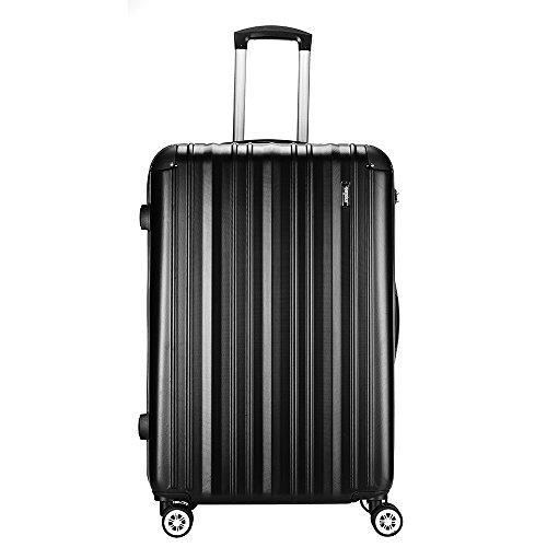 """Sunydeal® Valigia Trolley Bagaglio Grande Valigie Trolley Rigida in ABS 4 Ruote leggera 75cm 90 Litri 28""""New TSA per Donna e Uomo Blu"""