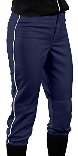 Teamwork Athletic Damen Low Rise Pants, damen, 3243, marineblau / weiß, xs (Low Rise Damen Softball)
