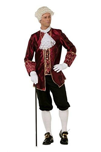 Herren Kostüm Barock bordeaux Karneval Fasching Gr.50 (Historische Kostüme)