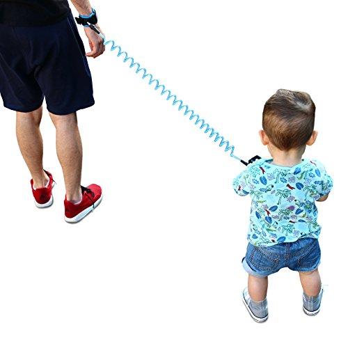 Urcover Handgelenk Leine für optimale Kindersicherung auf Reisen, Kinderleine Kinder Sicherheitsarmband Kleinkind Baby Laufleine Band Kids Gurt Safety Strap Kinderschutz Blau