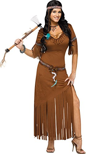Indian Summer Ladies Fancy Dress Native American Western Womens Adults Costume (Medium/Large UK 12 -16)