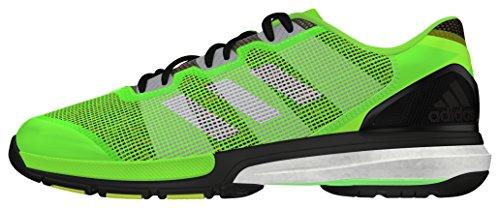 adidas Stabil Boost II, Scarpe da Handball, da Uomo Verde (Versol / Negbas / Amasol)