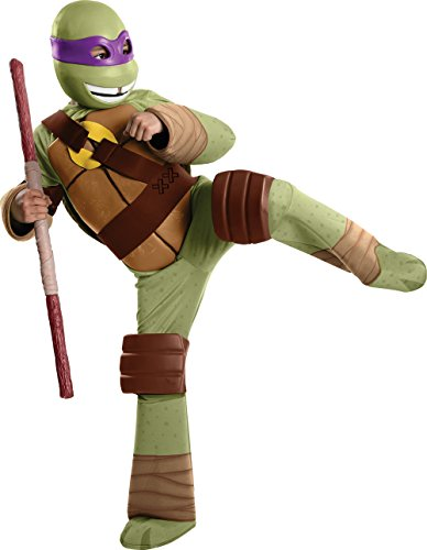 Donatello Kostüm Ninja Turtles für Kinder Gr. 110-122, 5-7 (Donatello Turtle Ninja Kostüm)