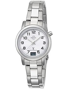 Master Time Funk Basic Series Damenuhr MTLA-10301-12M, Edelstahl Armbanduhr Silber