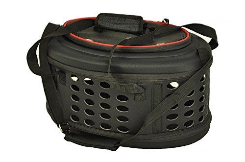 nanook faltbare Transporttasche / Transportbox für Katze, Kaninchen und kleine Hunde, 43 cm , schwarz