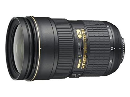 Nikon AF-S Nikkor 24-70mm f/2.8G ED - Objetivo para Nikon (distancia focal 24-70mm, apertura f/2.8) color negro