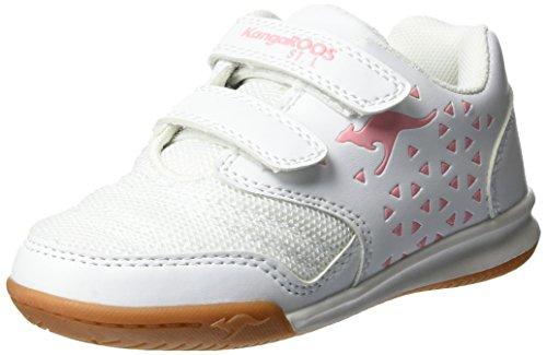 KangaROOSVander Court V - Pantofole Bambina , bianco (Weiß (White/Rose)), 30