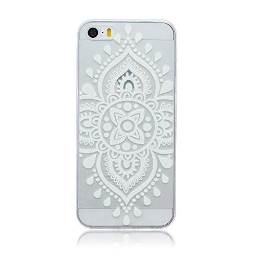 ZeWoo TPU Schutzhülle - BF003 / Wunderbar Baum - für Apple iPhone 5 5G 5S Silikon Hülle Case Cover BF014 / Retro Muster