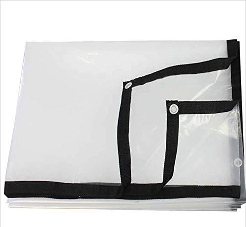 XRFHZT Impermeabile telone Trasparente Bordatura Fattoria Copertura Panno, Antipioggia Impermeabile Foglio di plastica, teloni agricoli, Fiore Raccolto Serra Film Telo Pavimento Panno,5m×5m