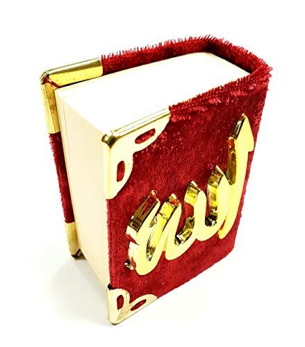MINI Kücük KURAN I KERIM KORAN (rot, Maße 2,5x4,5x5,5cm)/ mit Samt- Bezug - Cover/Relief-Schriftzug/Allah Islam Nazar Cevsen Kuran Qoran Quran