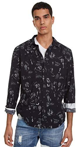 Desigual SCHWARZES BOLIMANIA Hemd SKU: 19SMCW39 (Large) - Herren-cutaway-kragen-shirt
