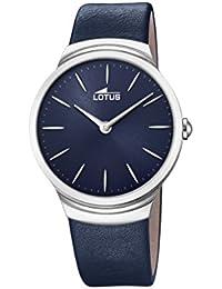 6d918682c2c8 Lotus Watches Reloj Análogo clásico para Hombre de Cuarzo con Correa en  Cuero ...