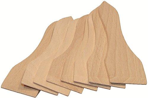 8 spatules à raclette en bois de hêtre : lot de 8 spatules - Artisanat Français