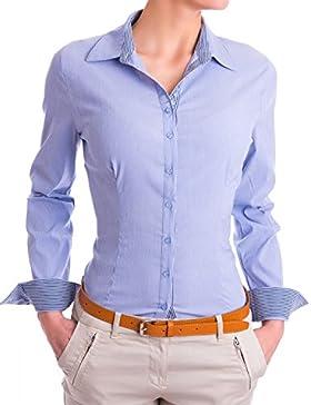 Danaest - Camisas - corte imperio - Básico - Clásico - Manga Larga - para mujer