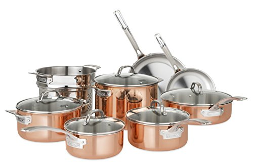 Viking Culinary 40571-9993C Stainless Steel Cookware Set, Copper