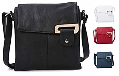 Womens Medium Multi Compartment Cross Body Shoulder Messenger Bag