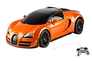 Toyhouse Officially Licensed Rastar Bugatti Veyron 16.4 Grand Sport Vitesse 1:24 Scale Model Car, Orange