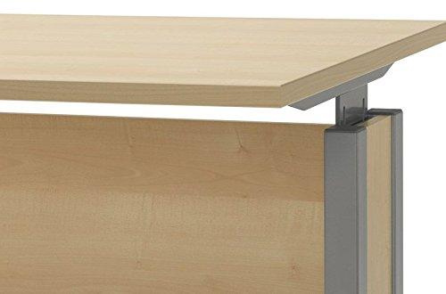 Höhenverstellbarer Schreibtisch Ahorn EXPRESS Breite 120 cm Pharao24 -