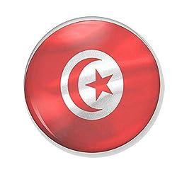 Gifts & Gadgets Co. Untersetzer, Motiv Tunesische Flagge im Wind, rund, 90 mm