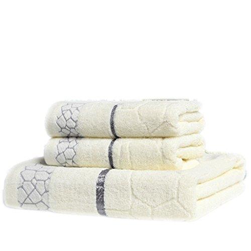 Asciugamani, cotone, asciugamani da bagno, asciugamani da fitness, piscina, campeggio, sport, viaggi, 3 per pacchetto ( Colore : Meticcio bianco ) Meticcio bianco