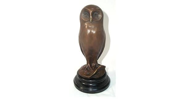 Marmorsockel Bronzeskulptur Bronze Tierskulptur von Milo G199: Die kluge Eule