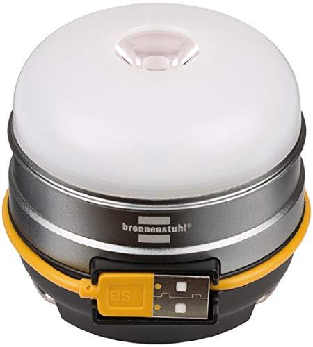 Brennenstuhl Akku LED Outdoor Campingleuchte Oli 0300 A (für außen, aufladbar und inkl. USB-Powerbank) silber -