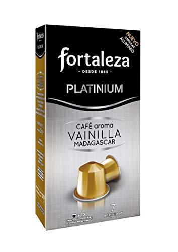 Café Fortaleza - Cápsulas De Aluminio Café Con Aroma Vainilla Madagascar Compatibles Con Nespresso...