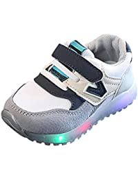 Voberry@ Unisex-Baby Toddler/Luminous Led Light Mesh Sneakers Boy's Sports Running Shoes
