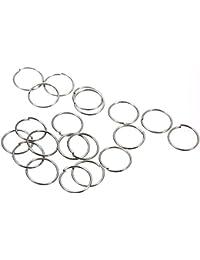 Skyllc® 10X Pares de Pendientes Redondo bañado plata Simple 10 mm