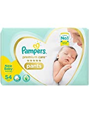 Pampers Premium Care Pants Diapers, New Born ( 54 Count)