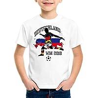 style3 WM 2018 Deutschland Kinder T-Shirt Fußball Weltmeisterschaft Trikot Germany