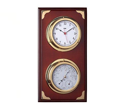Estación meteorológica náutica, Estación meteorológica con reloj y termometro-higrómetro-barómetro...