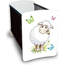 Best For Kids LUXUS Gitterbett Julia - MEGA Set mit höhenverstellbar, Wandsticker und Schaumstoffmatratze 60x120 cm - 10 Design