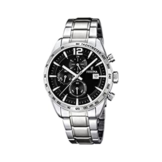 Festina F16759/4 – Reloj de cuarzo para hombre, con correa de acero inoxidable, color plateado