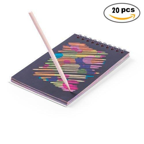 DISOK   Lote 20 Libretas Black Colours 12 Hojas   Manualidades, Regalos Cumpleaños, infantiles, Comuniones, Colegios