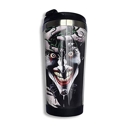 Jokers Smile Coffee Cups Stainless Steel Taza de la botella de agua Taza de viaje Coffee Tumbler with Spill Proof Lid