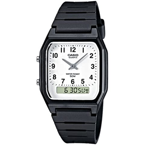 CASIO Collection Orologio da Polso, Quadrante Analogico - Digitale, Unisex, Resina, Colore Nero