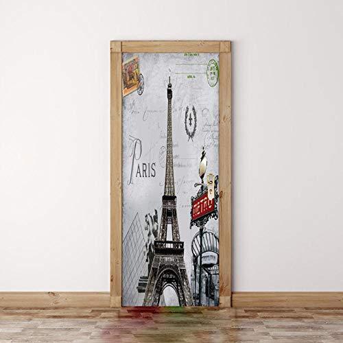 Paris Tower Vintage europäischen Stil Tür Aufkleber für Office Shop Mall Decal Home Wand Dekore