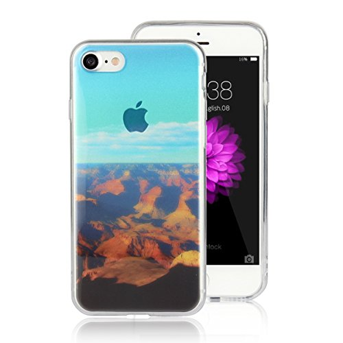 MOONCASE iPhone 7 Coque, Ultra Mince Motif Etui Souple TPU Silicone Antichoc Housse Case pour iPhone 7 (Montagne) Montagne
